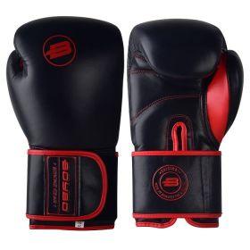 BoyBo - BoyBo Перчатки боксерские Rage BBG200, кожа, черный-красный - Арт. 001926 - Товар из Интернет-магазина ВКУС победы - магазин спортивного питания = 3990 РУБ.