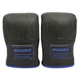 BoyBo - BoyBo Перчатки снарядные Rage, BGS350, кожа, черный-синий - Арт. 001934 - Товар из Интернет-магазина ВКУС победы - магазин спортивного питания = 2250 РУБ.