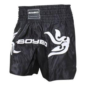 BoyBo - Шорты BoyBo для тайского бокса черные, BST882 - Арт. 001939 - Товар из Интернет-магазина ВКУС победы - магазин спортивного питания = 1550 РУБ.