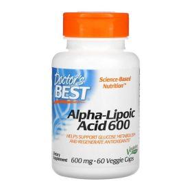 Doctor's Best - Doctor's Best Alpha-Lipoic Acid 600 мг 60 капс. - Арт. 001982 - Товар из Интернет-магазина ВКУС победы - магазин спортивного питания = 1450 РУБ.