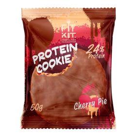 FITKIT - FITKIT Protein chocolate сookie Протеиновое шоколадное печенье 50 гр. - Арт. 002073 - Товар из Интернет-магазина ВКУС победы - магазин спортивного питания = 95 РУБ.