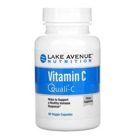 Lake Avenue - Lake Avenue Vitamin C, Quali-C, 1000 мг, 60 веган капс. - Арт. 002111 - Товар из Интернет-магазина ВКУС победы - магазин спортивного питания = 777 РУБ.