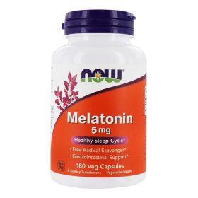 NOW - NOW Melatonin 5 мг 180 веган капс. - Арт. 001989 - Товар из Интернет-магазина ВКУС победы - магазин спортивного питания = 1500 РУБ.