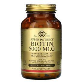 Solgar - Solgar Biotin (Биотин) 5000 мкг 100 растительных капсул - Арт. 001995 - Товар из Интернет-магазина ВКУС победы - магазин спортивного питания = 1790 РУБ.