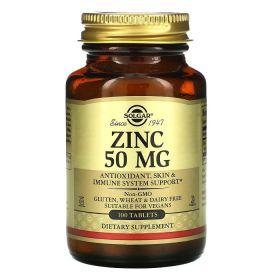 Solgar - Solgar Zinc 50 мг 100 таб. - Арт. 001993 - Товар из Интернет-магазина ВКУС победы - магазин спортивного питания = 900 РУБ.