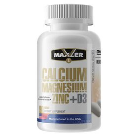 Maxler - Maxler Calcium Magnesium Zinc D3 90 таб. - Арт. 000933 - Товар из Интернет-магазина ВКУС победы - магазин спортивного питания = 650 РУБ.