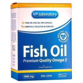 VP Laboratory - Vp Laboratory Fish oil 1000 60 капс. - Арт. 001041 - Товар из Интернет-магазина ВКУС победы - магазин спортивного питания = 550 РУБ.