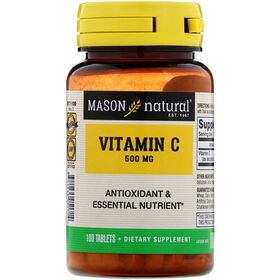 Mason Natural - Mason Natural Vitamin C 500 мг 100 таб. - Арт. 001467 - Товар из Интернет-магазина ВКУС победы - магазин спортивного питания = 350 РУБ.