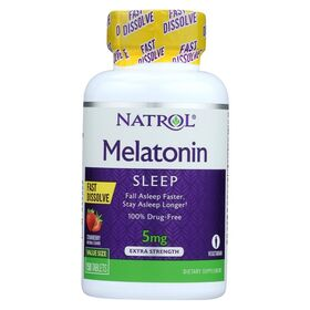 Natrol - Natrol Melatonin 5 мг Fast Dissolve 150 таб. - Арт. 001466 - Товар из Интернет-магазина ВКУС победы - магазин спортивного питания = 940 РУБ.