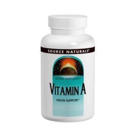 Source Naturals - Source Naturals Vitamin A 10000 IU 100 таб. - Арт. 001459 - Товар из Интернет-магазина ВКУС победы - магазин спортивного питания = 490 РУБ.