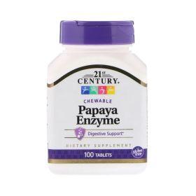 21st Century - 21st Century Papaya Enzyme 100 жевательных таб. - Арт. 001654 - Товар из Интернет-магазина ВКУС победы - магазин спортивного питания = 320 РУБ.