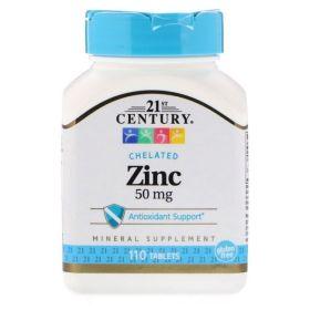 21st Century - 21st Century Zinc 50 мг 110 таб. - Арт. 001643 - Товар из Интернет-магазина ВКУС победы - магазин спортивного питания = 300 РУБ.