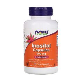 NOW - NOW Inositol Capsules 500 мг 100 капс. - Арт. 001770 - Товар из Интернет-магазина ВКУС победы - магазин спортивного питания = 690 РУБ.